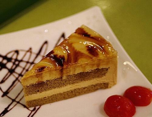 焦糖果冻慕斯蛋糕