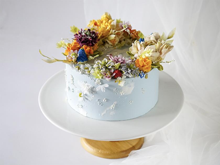 蛋糕裱花培训|制作蛋糕花卉