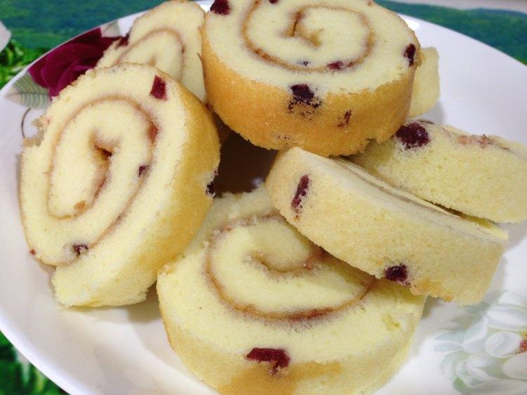 蔓越莓蛋糕卷的做法
