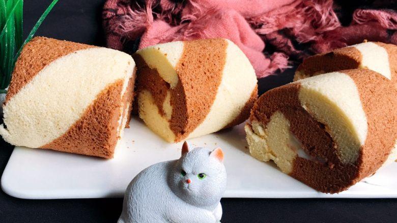 蛋糕卷的做法|双色覆盆子蛋糕卷的做法步骤